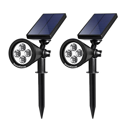 Best solar spotlights solar digital today bright and made to take the most difficult weather conditions the innogear upgraded solar lights 2 in 1 waterproof outdoor landscape lighting spotlight aloadofball Gallery